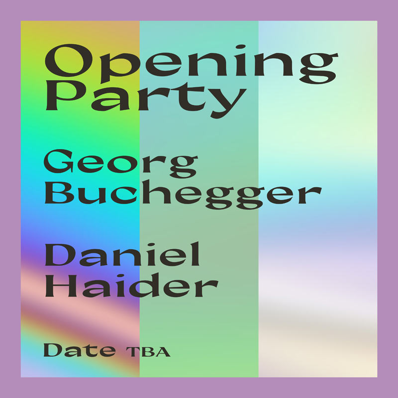 Opening Party: Georg Buchegger, Daniel Haider